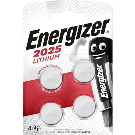Pile bouton CR 2025 lithium Energizer 163 mAh 3 V 4 pc(s) W209101