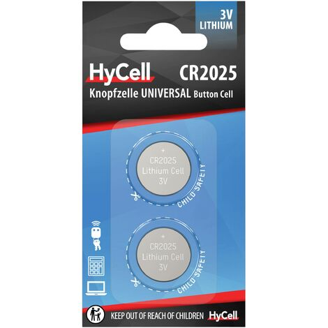 Pile bouton CR 2025 lithium HyCell 140 mAh 3 V 2 pc(s) Y731461