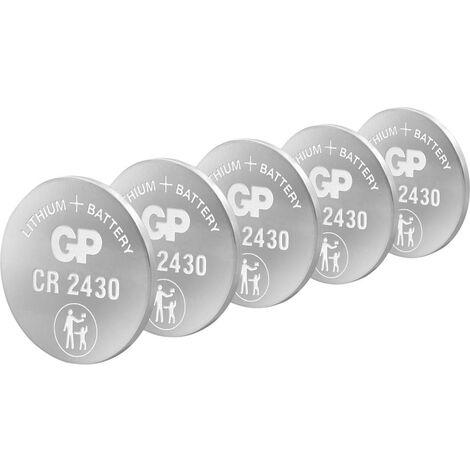 Pile bouton CR 2430 lithium GP Batteries 3 V 5 pc(s)
