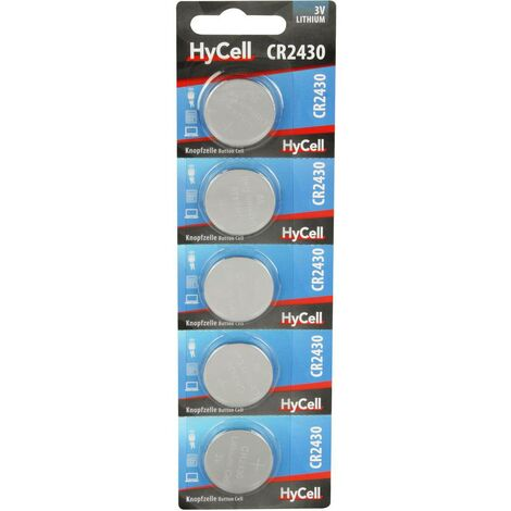 Pile bouton CR 2430 lithium HyCell 300 mAh 3 V 5 pc(s)