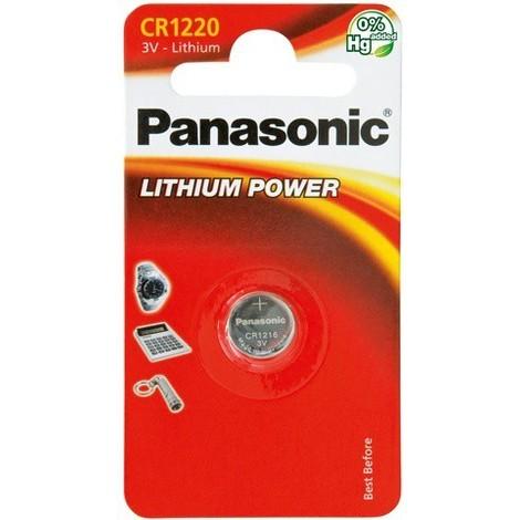 Pile bouton Lithium 3V 35mAh CR1220 Panasonic