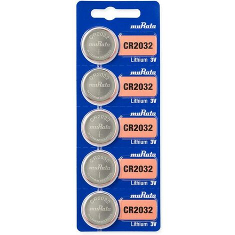 Pile bouton lithium CR 2032 Murata CR2032-BEABAE 248412 3 V 5 pc(s)