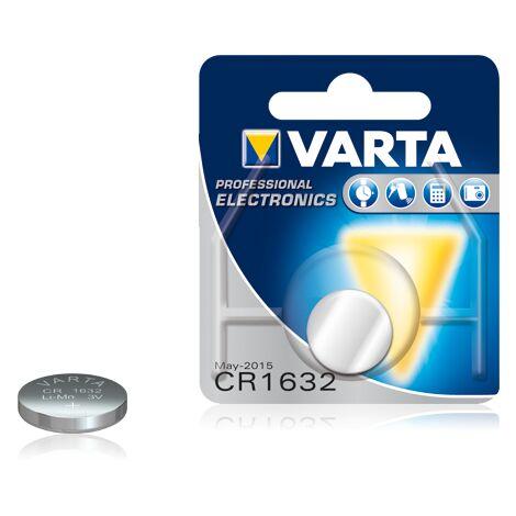 Pile bouton lithium Varta CR1632