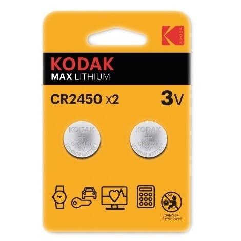 Pile bouton max lithium cr2450