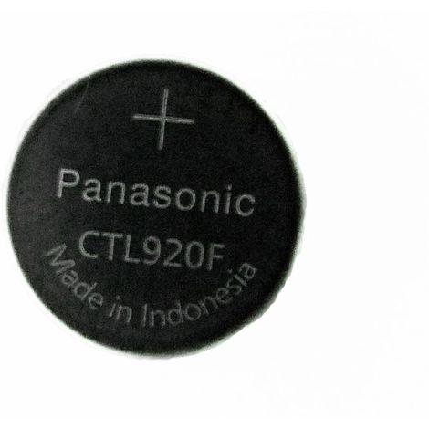 Pile bouton PANASONIC CTL920F rechargeable pour montre à énergie solaire - Li-Ion - 2.3V