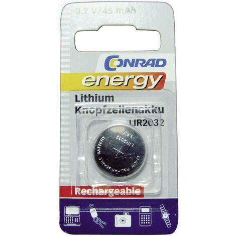 Pile bouton rechargeable lithium 3.6 V Conrad energy LIR2032 45 mAh 1 pc(s) A35540
