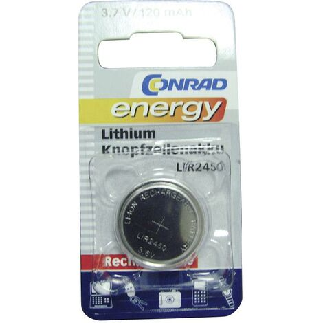 Pile bouton rechargeable lithium 3.6 V Conrad energy LIR2450 120 mAh 1 pc(s) A35524