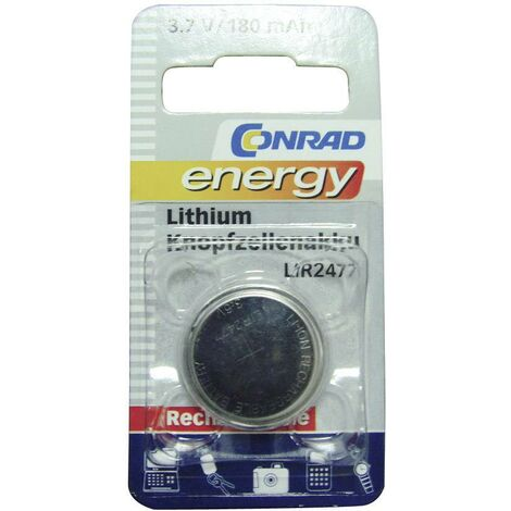 Pile bouton rechargeable lithium 3.6 V Conrad energy LIR2477 180 mAh 1 pc(s) A35553