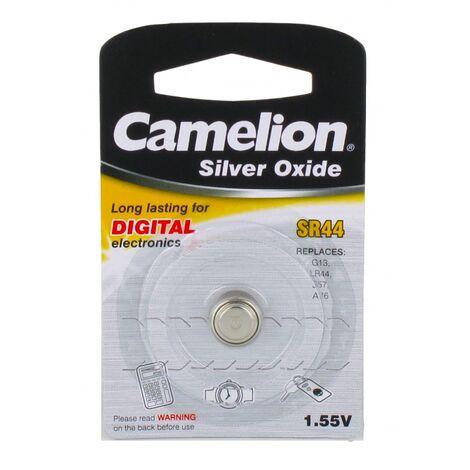 Pile bouton SR44 / G13 1.55v Oxyde d'Argent