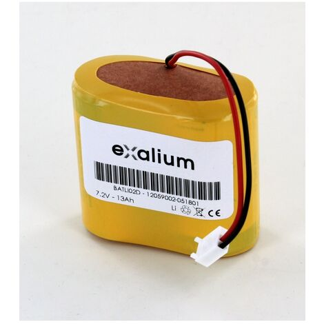 Pile compatible Batli02 Daitem 7.2V 13Ah Lithium pour alarme