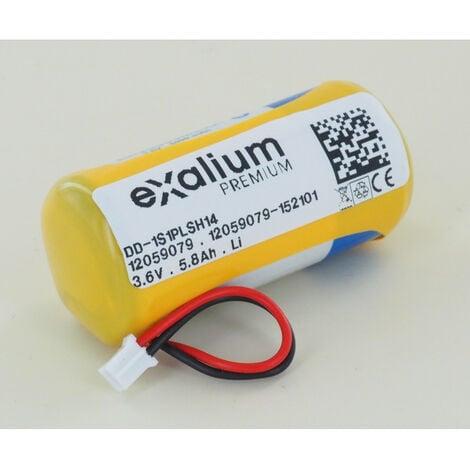 Pile Lithium 3.6V 5.8Ah pour DMBV TYXAL+ Delta Dore