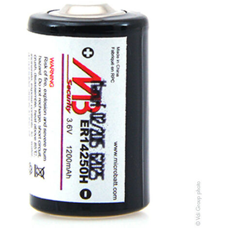 Pile lithium ER14250H 1/2AA 3.6V 1200mAh