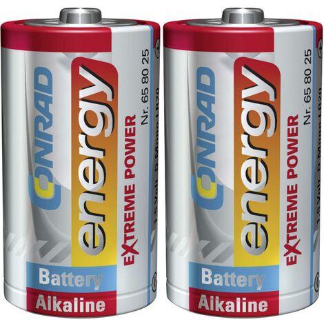 Pile LR20 (D) Conrad energy Extreme Power LR20 658025 alcaline(s) 1.5 V 2 pc(s) X36753