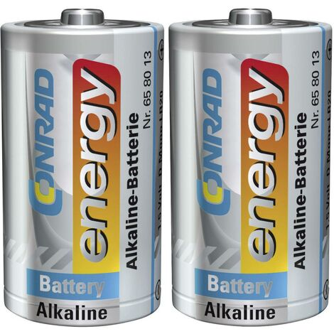 Pile LR20 (D) Conrad energy LR20 658021 alcaline(s) 1.5 V 2 pc(s) X36759