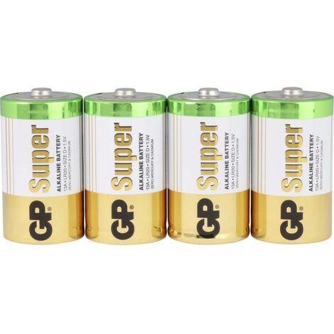 Pile LR20 (D) GP Batteries Super GP13A / LR20 03013AS4 alcaline(s) 1.5 V 4 pc(s)