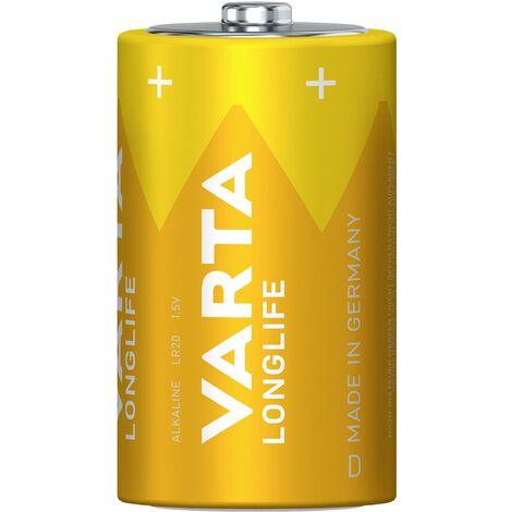 Pile LR20 (D) Varta Longlife LR20 4120110412 alcaline(s) 15800 mAh 1.5 V 2 pc(s) X37457
