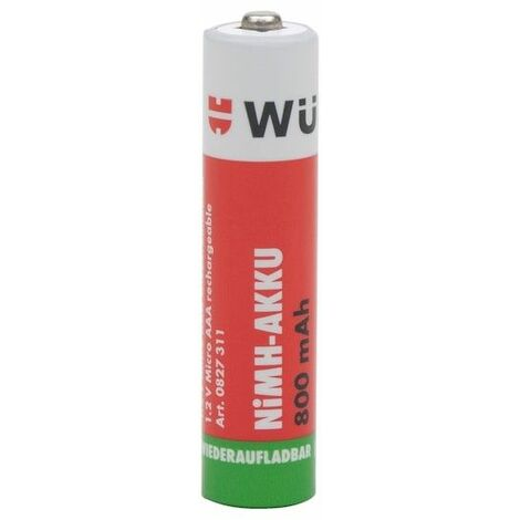Pile Rechargeable-aaa R3-800mah- Qte 4 Pc Wurth