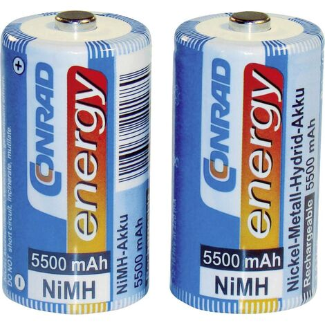 Pile rechargeable LR14 (C) NiMH 1.2 V Conrad energy 1371332 5500 mAh 2 pc(s) Y492251