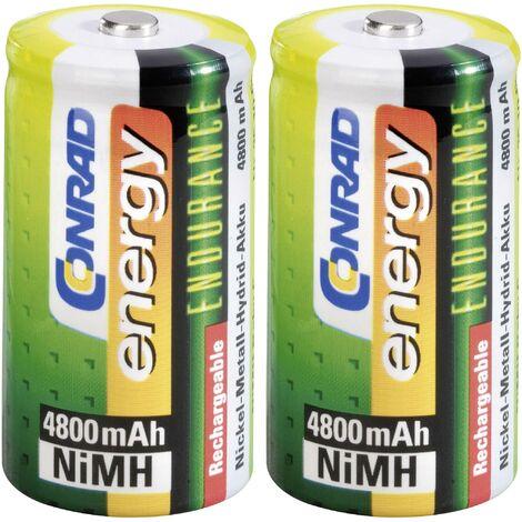 Pile rechargeable LR14 (C) NiMH 1.2 V Conrad energy 1377657 4800 mAh 2 pc(s) Y448341