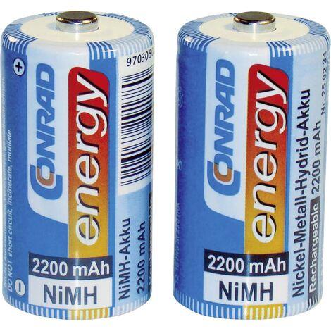 Pile rechargeable LR14 (C) NiMH 1.2 V Conrad energy 250234 2200 mAh 2 pc(s) A37521