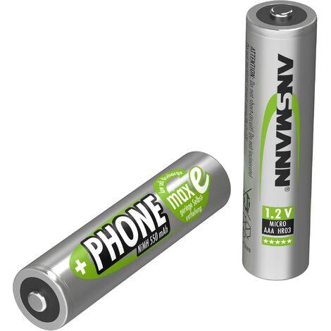 Pile rechargeable LR3 (AAA) NiMH 1.2 V Ansmann 5035523 550 mAh 2 pc(s) Y731471