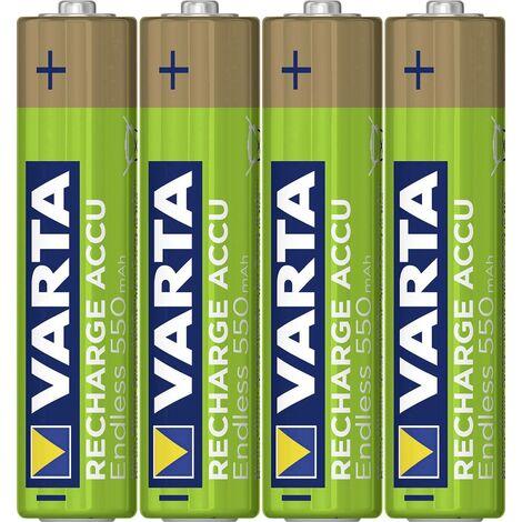 Pile rechargeable LR3 (AAA) Varta Endless Ready to Use 5.6663101404E10 NiMH 550 mAh 1.2 V 4 pc(s) X013171