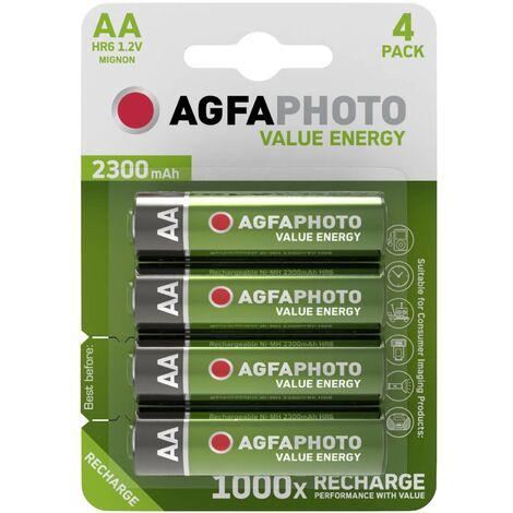 Pile rechargeable LR6 (AA) NiMH AgfaPhoto HR06 2300 mAh 1.2 V 4 pc(s) A37174