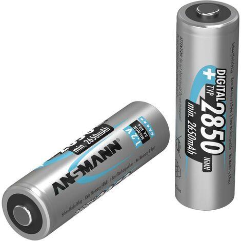 Pile rechargeable LR6 (AA) NiMH Ansmann Digital HR06 2650 mAh 1.2 V 2 pc(s)