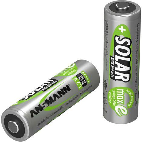 Pile rechargeable LR6 (AA) NiMH Ansmann HR06 Solar maxE 800 mAh 1.2 V 2 pc(s) W738111