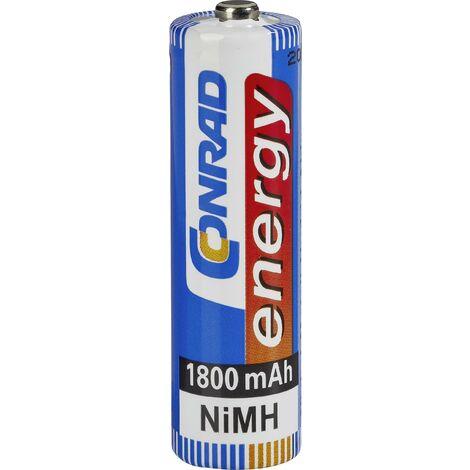 Pile rechargeable LR6 (AA) NiMH Conrad energy HR06 1800 mAh 1.2 V 1 pc(s) A37925