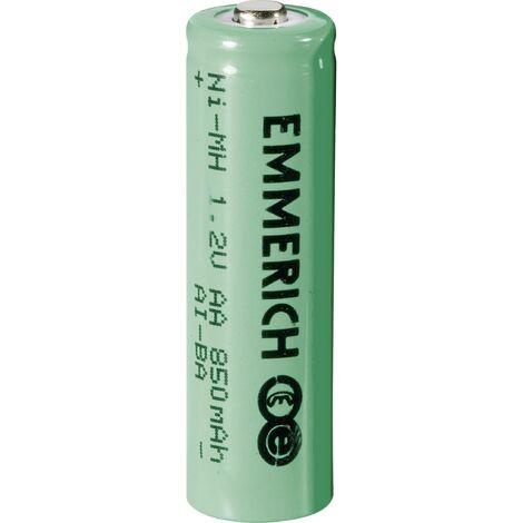 Pile rechargeable LR6 (AA) NiMH Emmerich HR06 850 mAh 1.2 V 1 pc(s) A33755