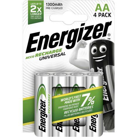 Pile rechargeable LR6 (AA) NiMH Energizer Universal HR06 1300 mAh 1.2 V 4 pc(s) D571061