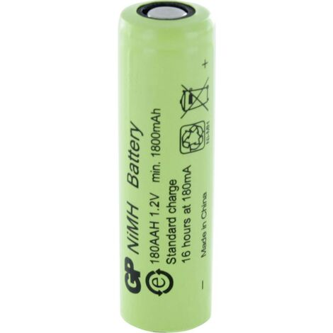 Pile rechargeable LR6 (AA) NiMH GP Batteries GP180AAH 300180AAH 1800 mAh 1.2 V 1 pc(s) X787341