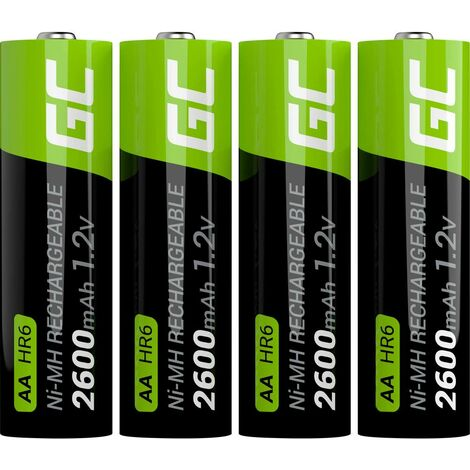 Pile rechargeable LR6 (AA) NiMH Green Cell HR6 GR01 2600 mAh 1.2 V 4 pc(s)