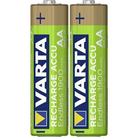 Pile rechargeable LR6 (AA) NiMH Varta Endless Ready to Use 5.6676101402E10 1900 mAh 1.2 V 2 pc(s)
