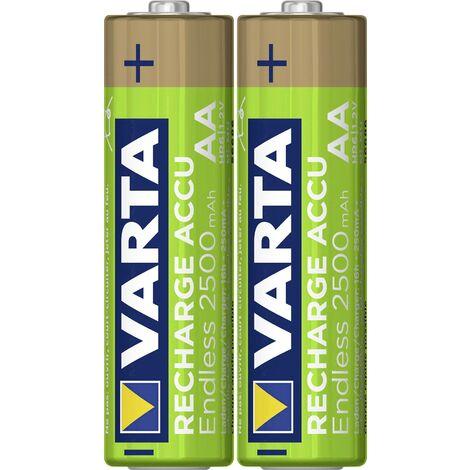 Pile rechargeable LR6 (AA) NiMH Varta Endless Ready to Use 5.6686101402E10 2500 mAh 1.2 V 2 pc(s) X013221