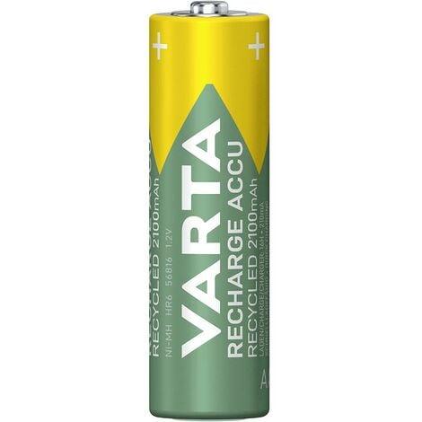 Pile rechargeable LR6 (AA) NiMH Varta Recycled Ready to Use 5.6816101404E10 2000 mAh 1.2 V 4 pc(s)