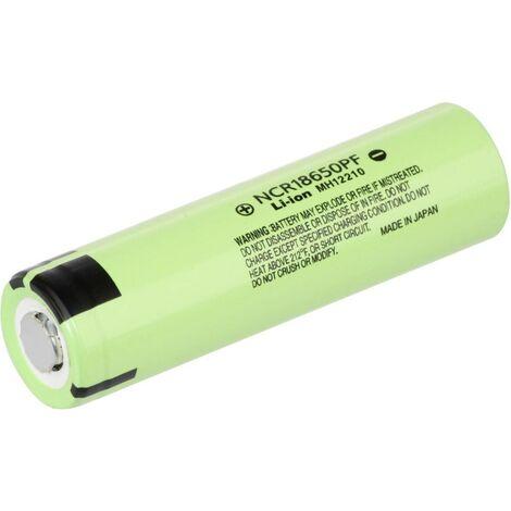 Pile rechargeable spéciale 18650 Panasonic NCR18650PF NCR18650PF résiste aux courants élevés Li-Ion 3.6 V 2900 mAh 1 pc(s)