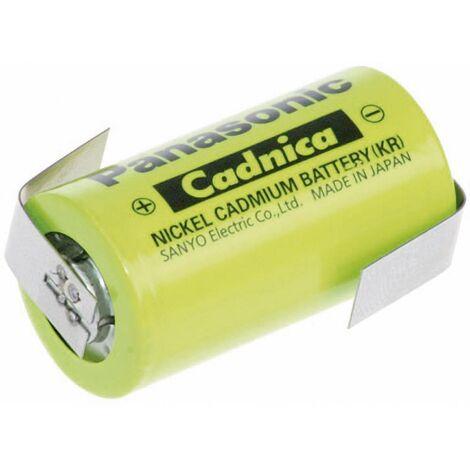 Pile rechargeable spéciale Sub-C cosses à souder en Z NiCd Panasonic Sub-C ZLF 1.2 V 1800 mAh