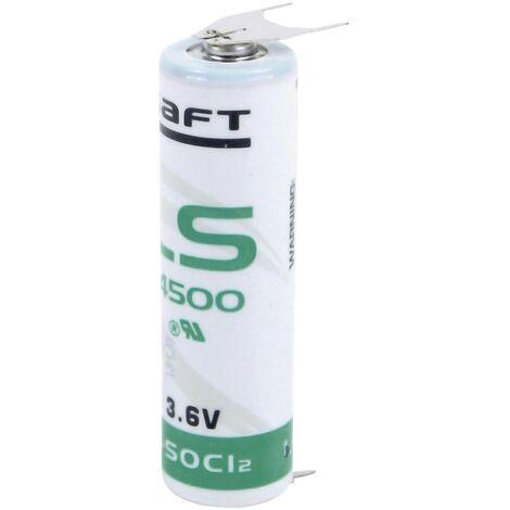 Pile spéciale LR6 (AA) lithium Saft LS145003PF picots à souder en U 3.6 V 2600 mAh 1 pc(s) V386561
