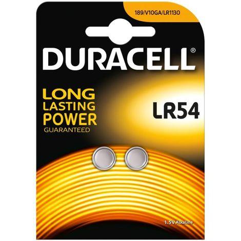 Piles Electronics LR54 - x2 - Duracell