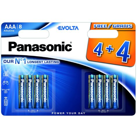 Piles LR03 AAA Evolta 4+4 gratuites