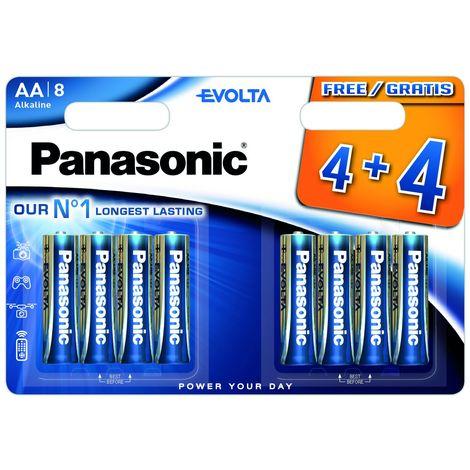 Piles LR06 AA Evolta 4+4 gratuites
