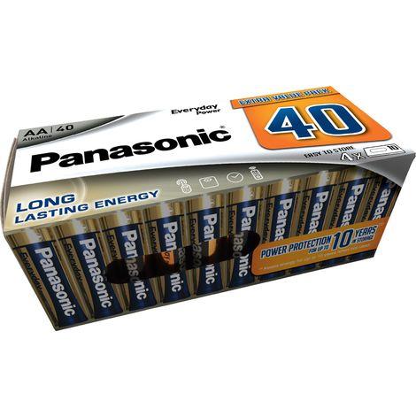 Piles LR6 AA Everyday Power pack de 40