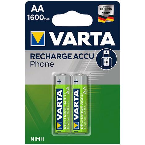 Piles Rechargeables AAA Nimh 550Mah H0R3 Blister 2 58397101402 Varta