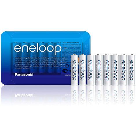 Piles Rechargeables Panasonic eneloop Lot de 8 piles AAA-LR3 prêtes à utiliser