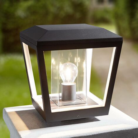 Pillar light Dunia with clear lampshade