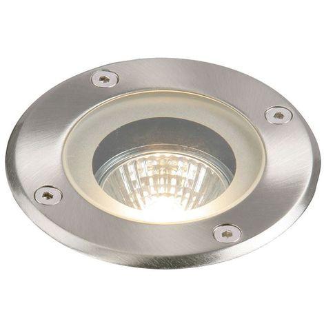 Pillar Round IP65 50W Outdoor Light Stainless Steel Glass Diffuser