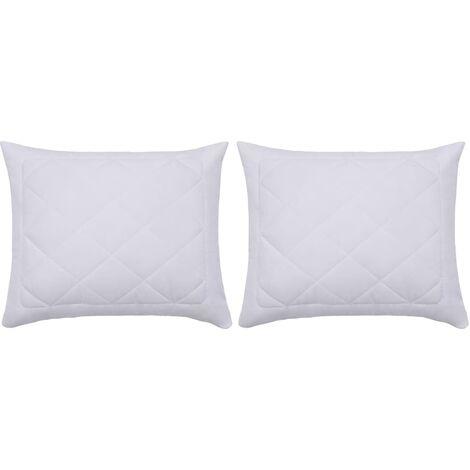 Pillow Protectors 2 pcs 60x70 cm White