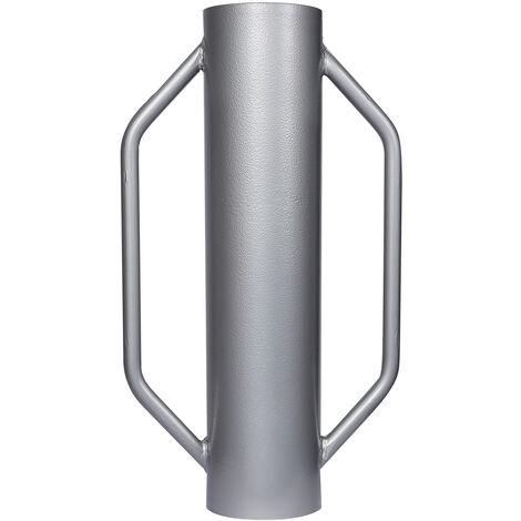 Pilon à poteau Ø14cm 13,5kg Acier avec Poignées pour la construction de clôture & Compactage de sol